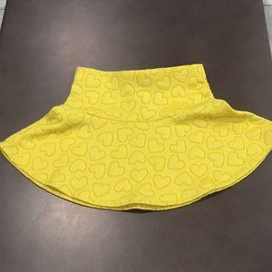 Girls heart print skirt